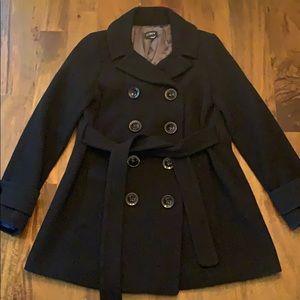 J Crew black belted wool pea coat